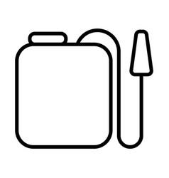 Gardening sprayer line style icon vector