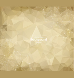 geometric brown polygonal background molecule and vector image