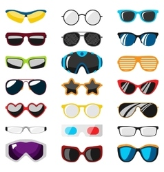 Glasses human eye set vector image
