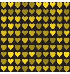Golden hearts pattern vector