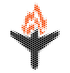 Halftone dot air crash icon vector
