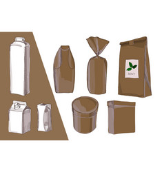 Hand drawn drawing package bag vector
