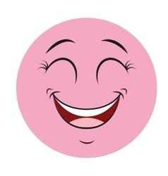 happy cartoon icon vector image