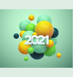 happy new 2021year vector image
