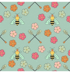 Honey Bee Pattern vector