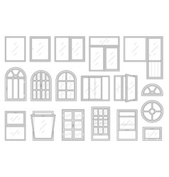 icons set of windows types vector image