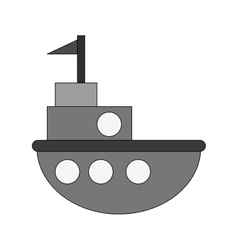 Isolated ship toy design vector image