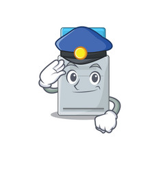 Key card cartoon mascot performed as a police vector