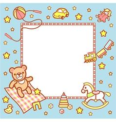 Kid frame boy vector image