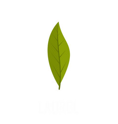laurel leaf icon flat style vector image