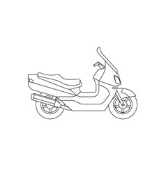 Maxi scooter line drawing vector
