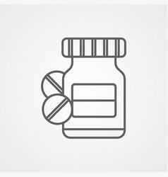 medicine icon sign symbol vector image