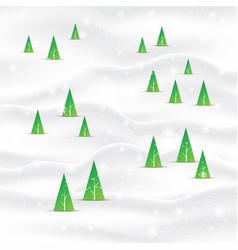 minimal christmas tree landscape background vector image