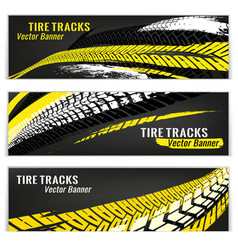 Motorcycle tire banners vector