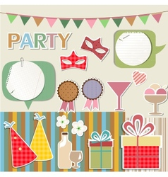 Party design elements for scrapbook vector image