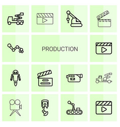 production icons vector image