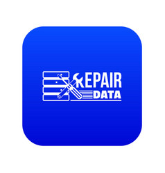 Repair data icon blue vector