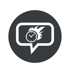 Round burning time dialog icon vector
