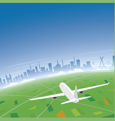 Sao paulo skyline flight destination vector