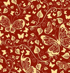 Seamless floral texture vector image