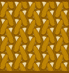 seamless pattern with ears corn vector image