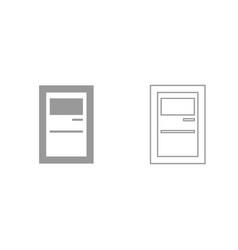 service terminal grey set icon vector image