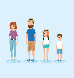set happy family people vector image