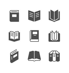 set icons book vector image