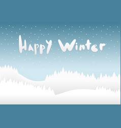 snow and happy winter season background with vector image
