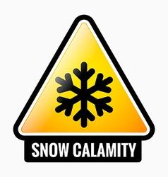 Snow calamity vector