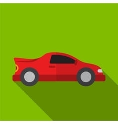 Sport car flat icon vector image