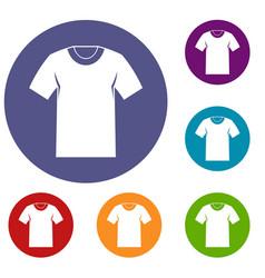 tshirt icons set vector image
