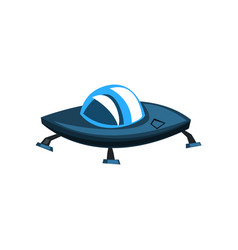 ufo spaceship cartoon on a vector image