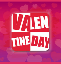 Valentine day square purple background imag vector