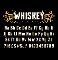Whiskey label font 002 vector
