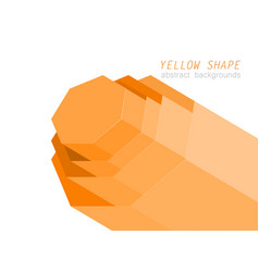 yellow hexagon shapes scene vector image