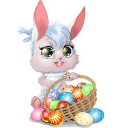 beautiful easter bunny vector image