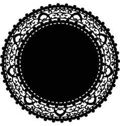 black napkin vector image