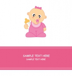 cartoon baby vector image