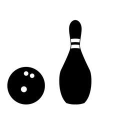 pin and bowling ball vector image