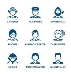 profession icons set ii vector image vector image
