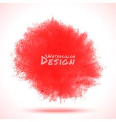 Red Watercolor splatter vector image