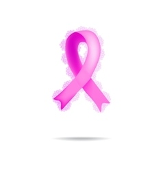 Ribbon Breast Cancer Lace on vector image
