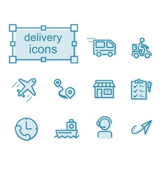 Thin line icons set Delivery vector image vector image