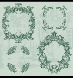 vintage ornaments set03 vector image vector image