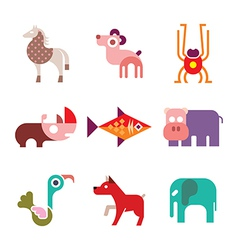 animal icons 8 vector image vector image