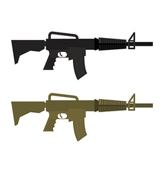 Army Military machine gun Set of two martial vector image vector image