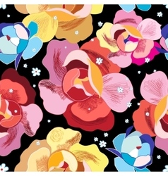 bright floral pattern vector image vector image
