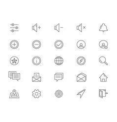 line icons for ui vector image vector image
