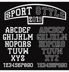 serif font in the retro style of sport vector image vector image